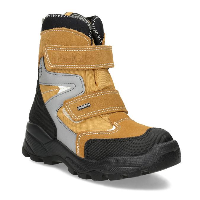 Žlutá dětské zimní obuv na suché zipy primigi, žlutá, 499-8617 - 13