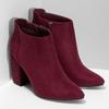 Dámská kotníková obuv na stabilním podpatku bata, červená, 699-5605 - 26