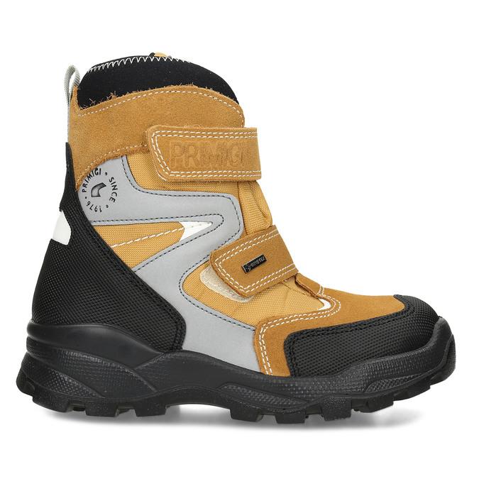Žlutá dětské zimní obuv na suché zipy primigi, žlutá, 499-8617 - 19