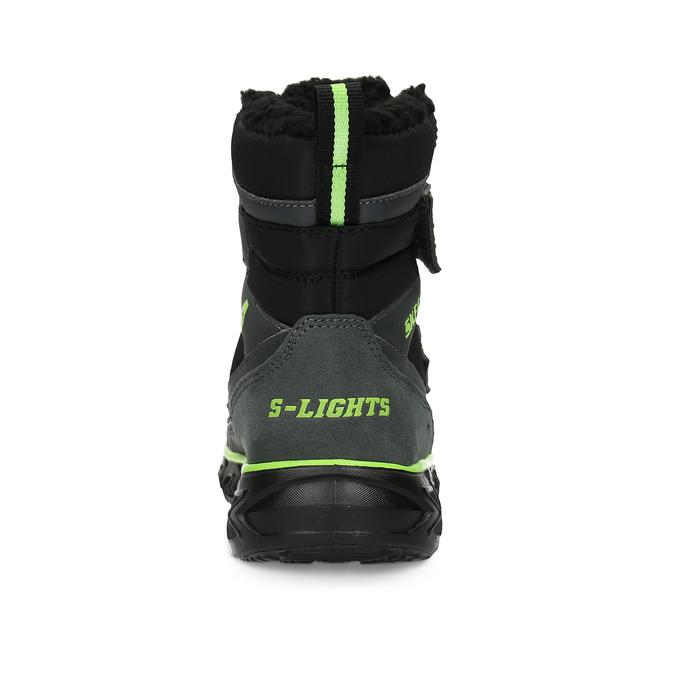 Černá dětská kotníčková zimní obuv skechers, černá, 399-6112 - 15