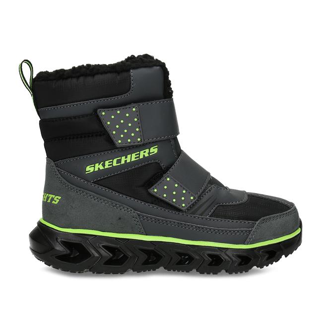 Černá dětská kotníčková zimní obuv skechers, černá, 399-6112 - 19