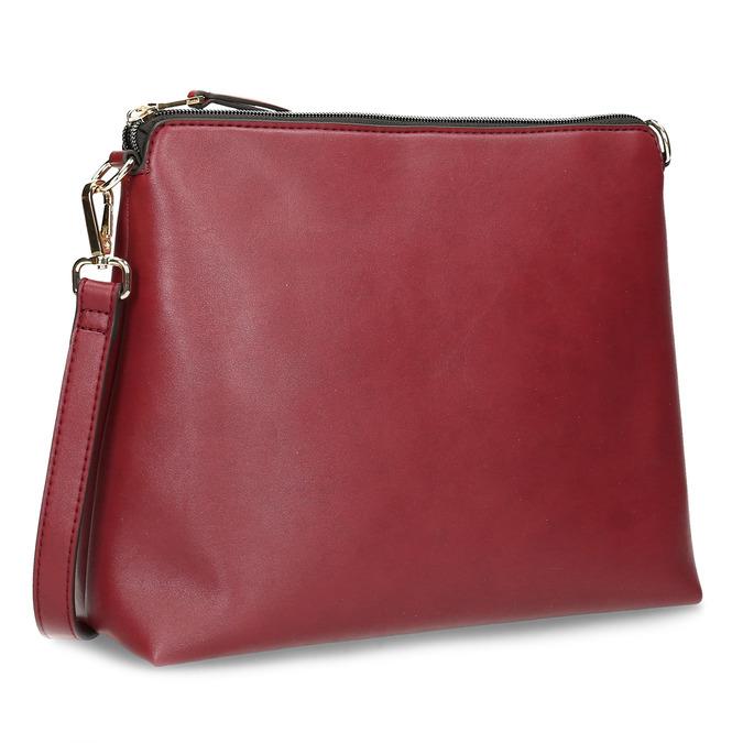 Červená dámská kabelka s popruhem bata, červená, 961-5816 - 15