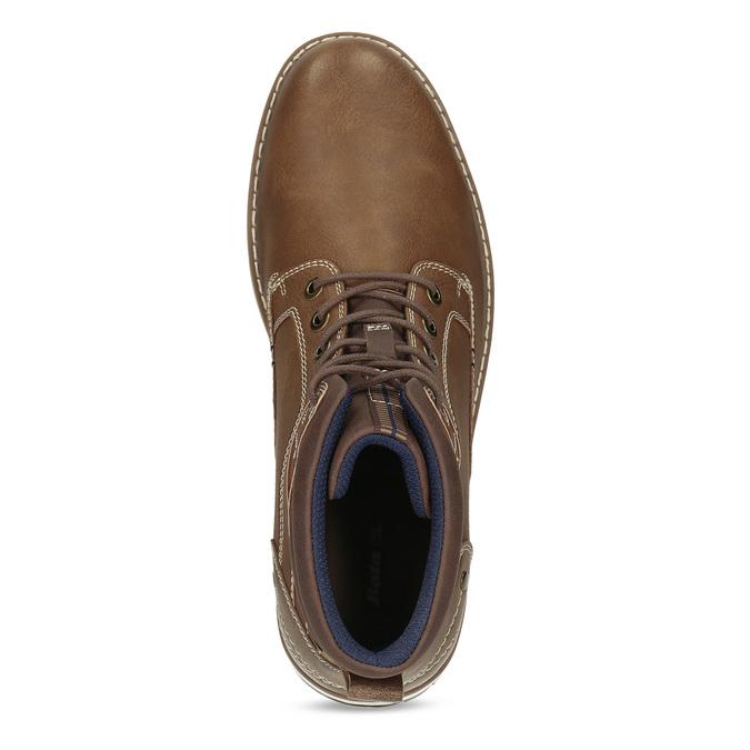 Hnědá pánská kotníčková obuv s prošitím bata-red-label, hnědá, 891-3609 - 17