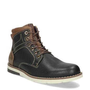 Kotníčková pánská obuv s hnědými detaily bata-red-label, hnědá, 891-6609 - 13