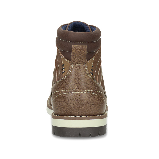 Hnědá pánská kotníčková obuv s prošitím bata-red-label, hnědá, 891-3609 - 15
