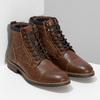 Pánská hnědá kotníčková obuv s prošitím bata-red-label, hnědá, 891-3608 - 26