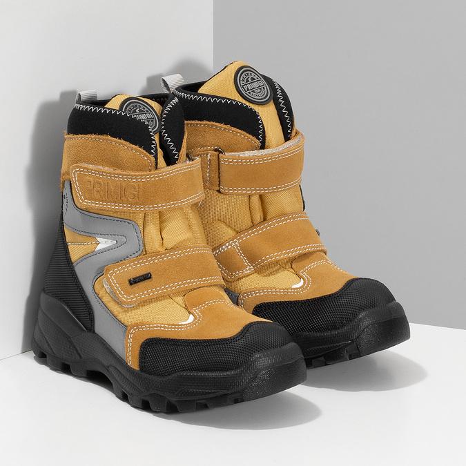 Žlutá dětské zimní obuv na suché zipy primigi, žlutá, 499-8617 - 26