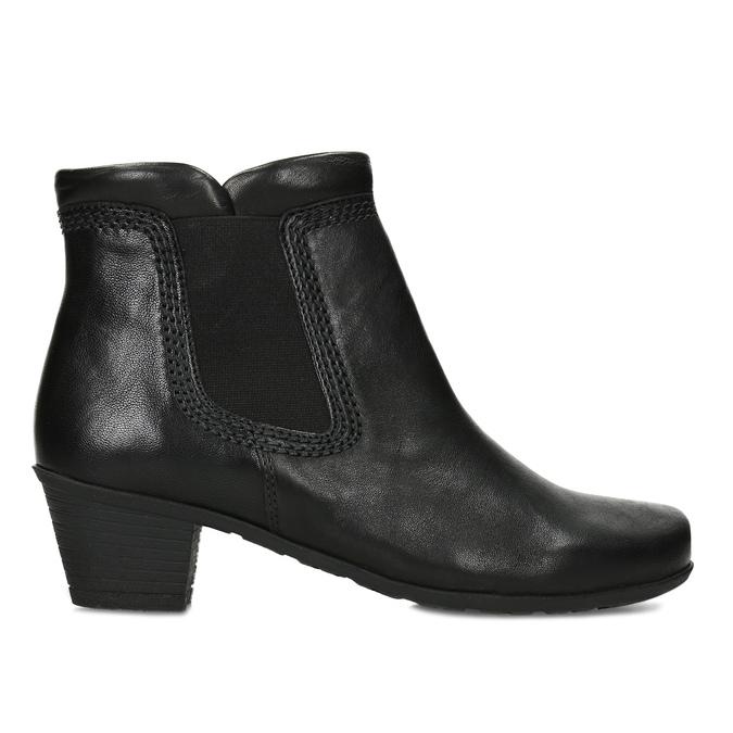 Černé dámské kotníčkové kozačky gabor, černá, 696-6102 - 19