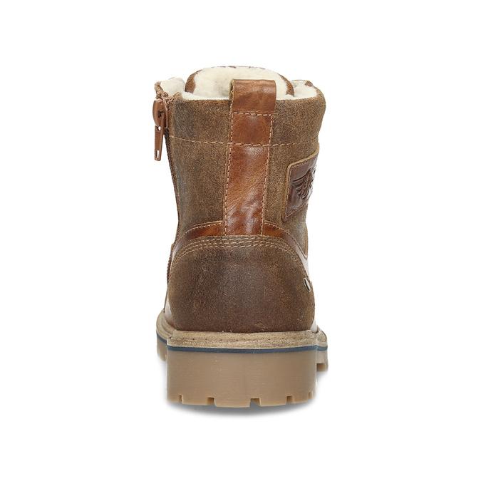 Dětská hnědá kožená kotníčková obuv mini-b, hnědá, 496-3612 - 15