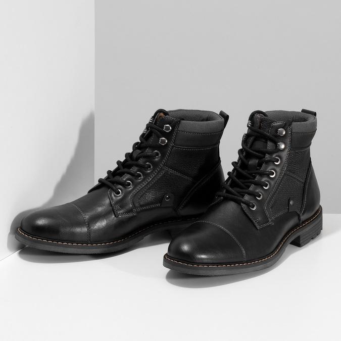 Černá pánská kotníčková zimní obuv bata-red-label, černá, 891-6608 - 16