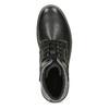 Pánská černá kotníčková obuv s prošitím bata-red-label, černá, 891-6606 - 17