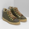 Kožená dětská zelená kotníčková obuv mini-b, zelená, 423-7608 - 26