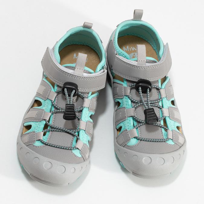 Šedé dětské sandály mini-b, šedá, 461-2716 - 16