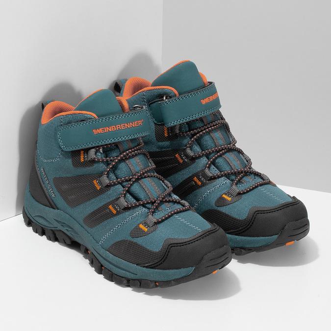 Modrá dětská kotníčková Outdoor obuv weinbrenner, modrá, 419-9621 - 26