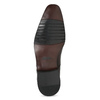 Pánské hnědé kožené Oxford polobotky bata, hnědá, 826-4671 - 18