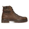 Kožená pánská kotníčková obuv se zateplením bata, hnědá, 896-4600 - 19