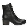 Černé dámské kožené kozačky bata, černá, 694-6607 - 19