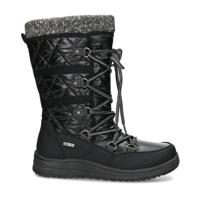 Černé dámské sněhule s úpletem bata, černá, 599-6634 - 19