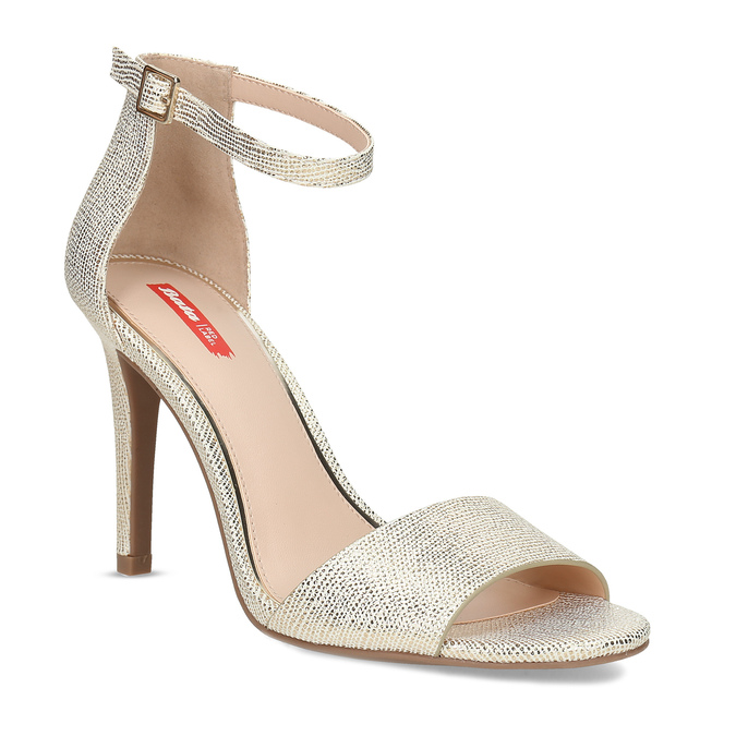 Zlaté sandály na jehlovém podpatku bata-red-label, zlatá, 721-8621 - 13