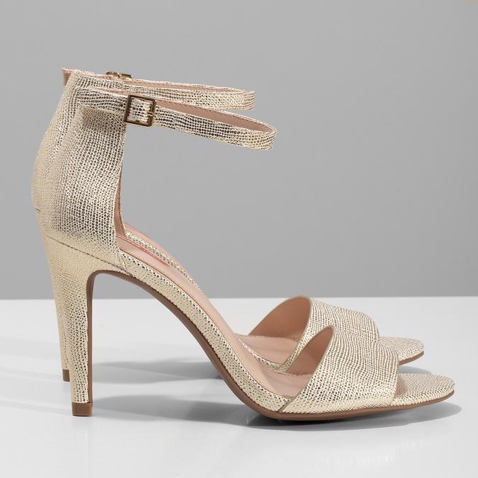 Zlaté sandály na jehlovém podpatku bata-red-label, zlatá, 721-8621 - 16