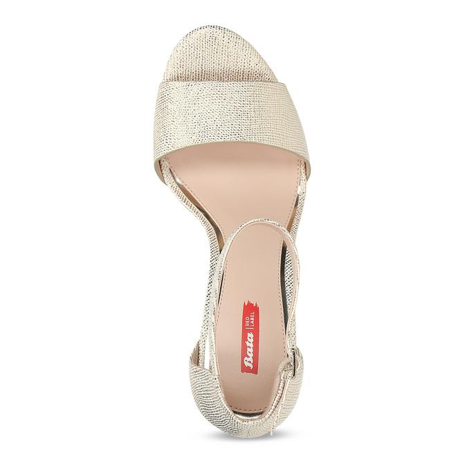 Zlaté sandály na jehlovém podpatku bata-red-label, zlatá, 721-8621 - 17