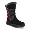 Černé dámské sněhule s červeným zipem weinbrenner, černá, 593-6633 - 13