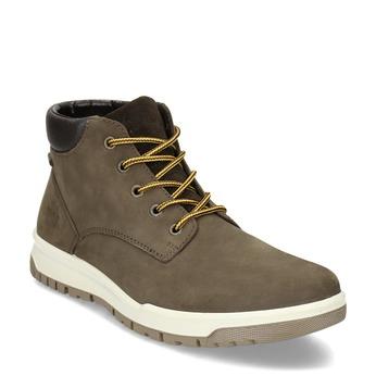 Pánská kožená kotníková obuv weinbrenner, hnědá, 896-4396 - 13