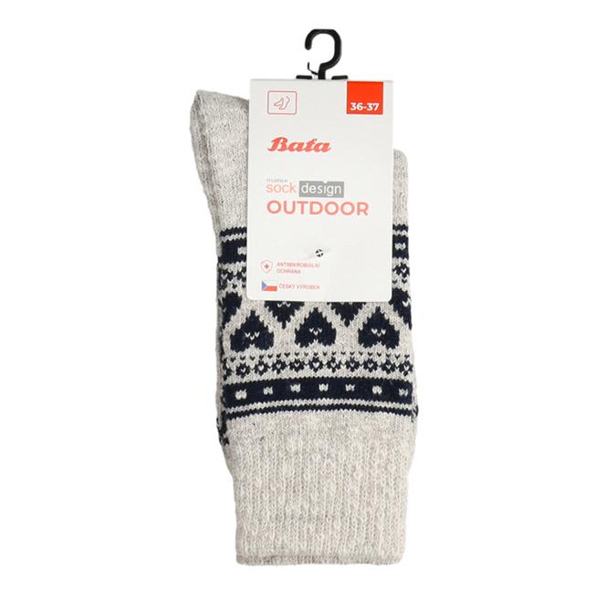 Dámské outdoor ponožky matex, béžová, 919-8602 - 13