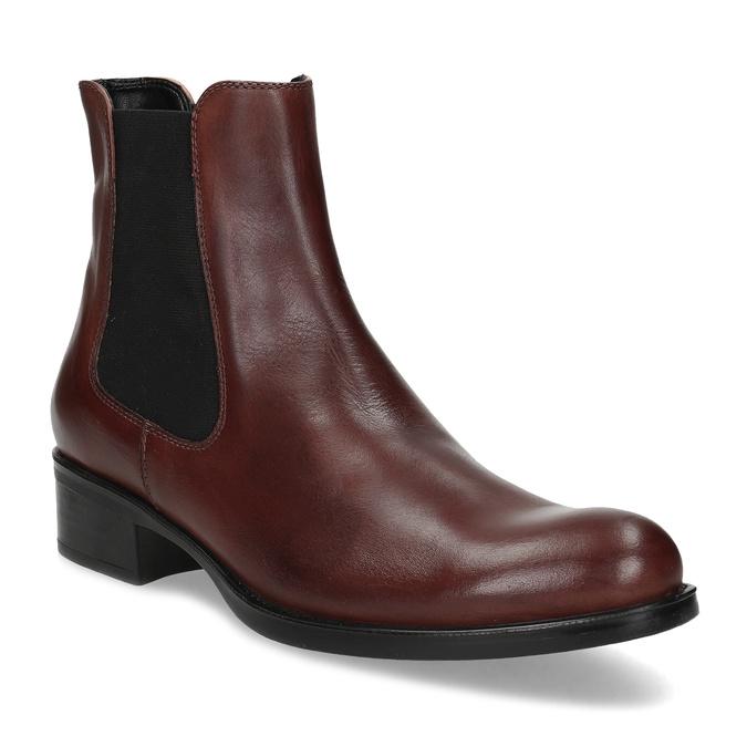 Kožená bordó dámská obuv v Chelsea stylu bata, 594-4447 - 13
