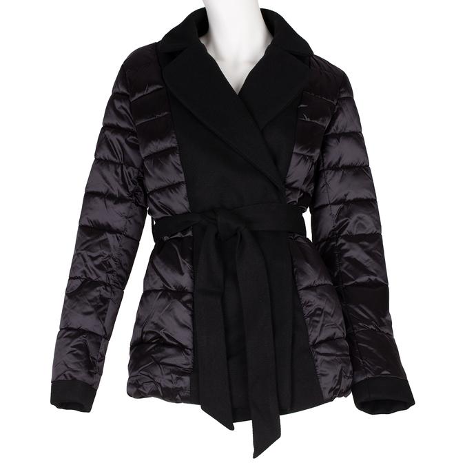 Prošívaná zimní bunda v kimono střihu bata, černá, 979-6198 - 13