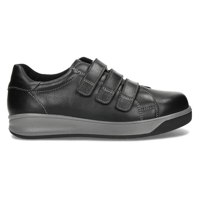 Pánská zdravotní obuv na suchý zip medi, černá, 854-6609 - 19