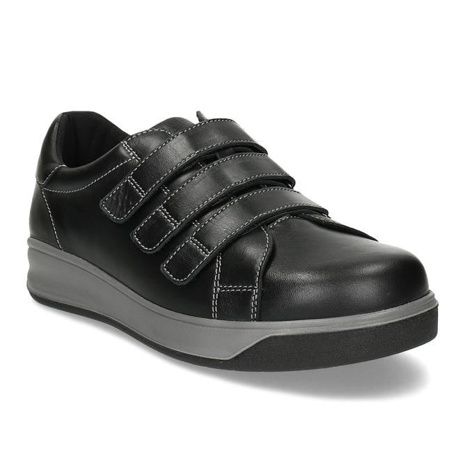Pánská zdravotní obuv na suchý zip medi, černá, 854-6609 - 13