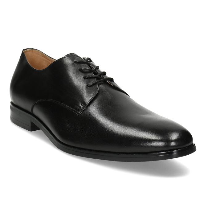 Černé pánské kožené Derby polobotky bata, černá, 824-6629 - 13