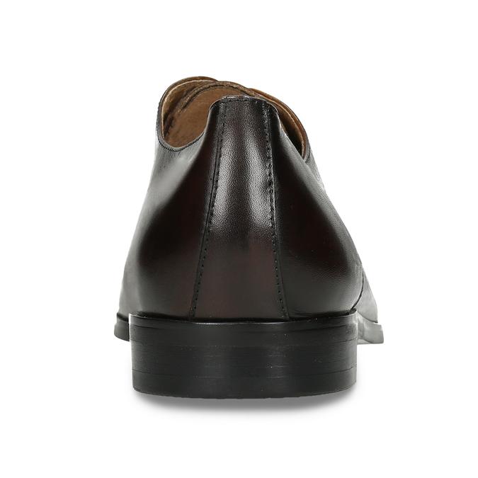 Tmavě hnědé pánské kožené Derby polobotky bata, hnědá, 826-4729 - 15