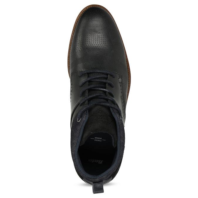 Kožená pánská černá kotníčková obuv bata, černá, 826-6603 - 17