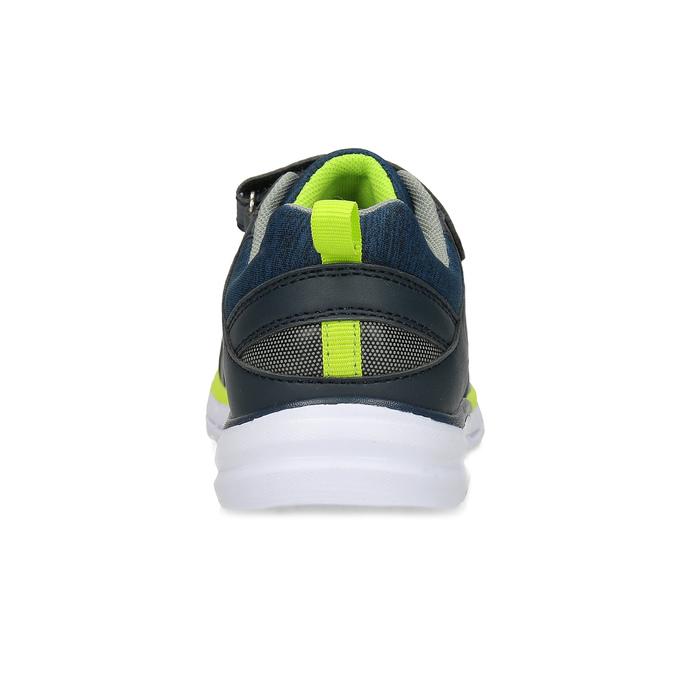 Tmavě modré tenisky s neonovým detailem mini-b, modrá, 419-9622 - 15
