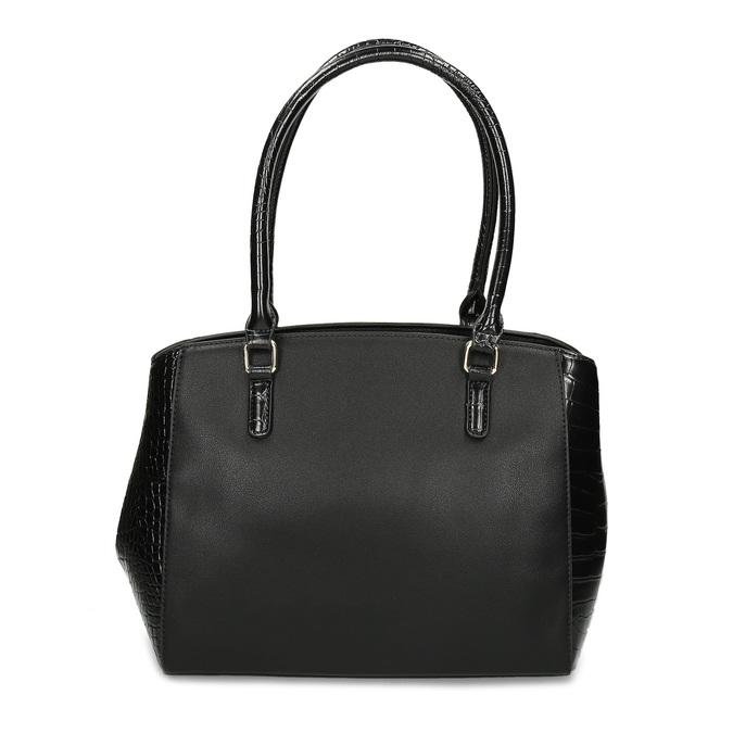 Černá dámská kabelka se strukturou bata-red-label, černá, 961-6600 - 16