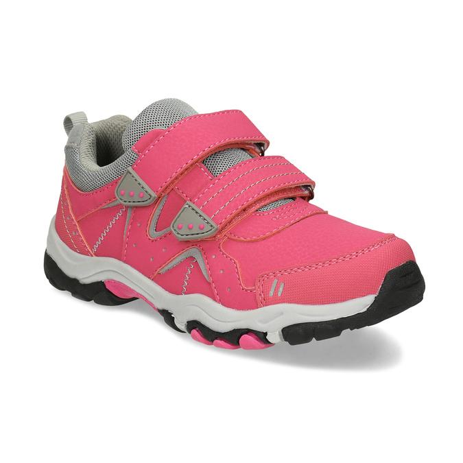 Dětské růžové tenisky na suché zipy mini-b, růžová, 421-5617 - 13