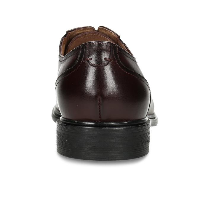 Pánské kožené polobotky ve stylu Derby bata, červená, 826-5665 - 15
