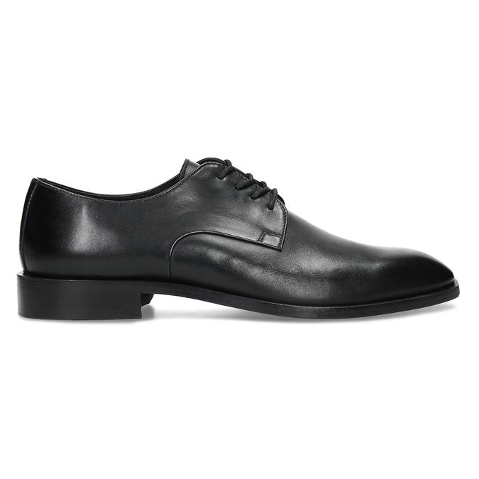 Pánské kožené černé derby polobotky bata, černá, 824-6680 - 19