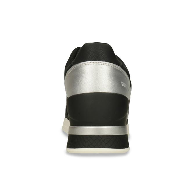 Černé dámské tenisky se stříbrnými detaily north-star, černá, 641-6604 - 15