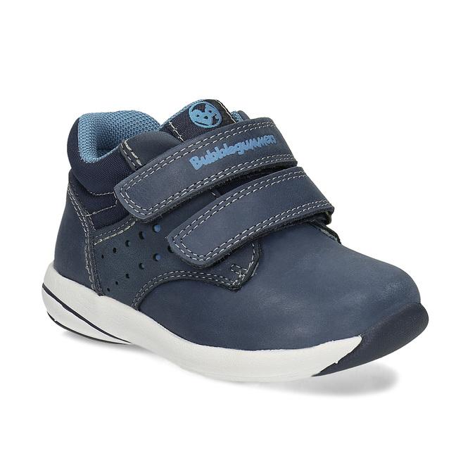 Dětská modrá kožená kotníčková obuv bubblegummers, modrá, 116-9618 - 13