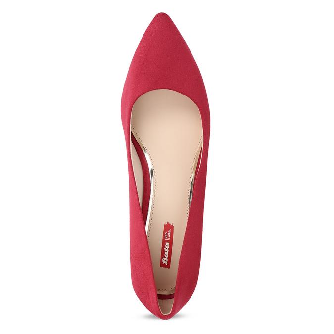 Červené lodičky na stabilním podpatku bata-red-label, červená, 621-5610 - 17