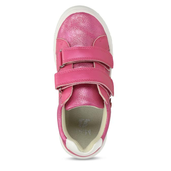 Růžové dětské tenisky na suché zipy mini-b, růžová, 221-5626 - 17