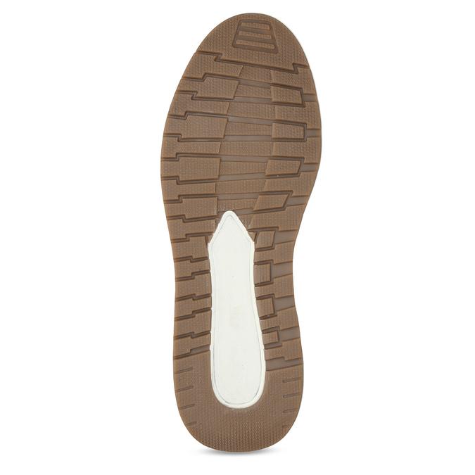 Bílé kožené ležérní tenisky bata, šedá, 846-1602 - 18