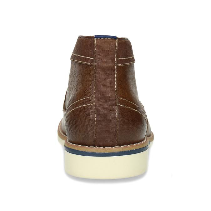 Pánské hnědé neformální kotníkové boty bata-red-label, hnědá, 821-4607 - 15