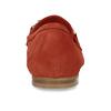 Dámské červené mokasíny z broušené kůže bata, červená, 513-5601 - 15