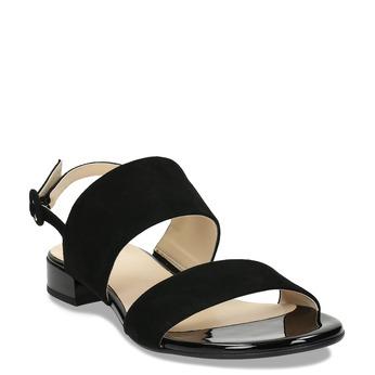 Dámské kožené černé páskové sandály hogl, černá, 563-6102 - 13