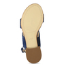 Dámské kožené modré páskové sandály hogl, modrá, 563-9103 - 18