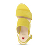 Dámské kožené žluté páskové sandály hogl, žlutá, 563-8102 - 17